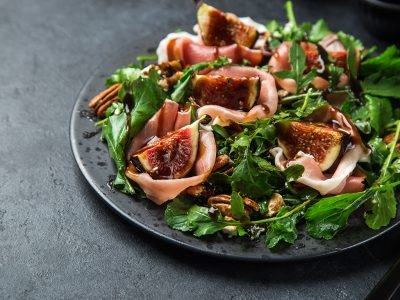 Wild Field Salad With Prosciutto and Figs