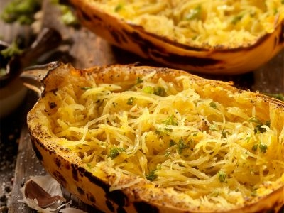 Simple Spaghetti Squash with Herbed Ghee and Garlic
